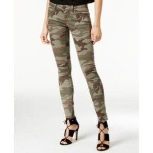 True Religion Casey Super Skinny Camo Print Army Green Jeans Women's Size 30